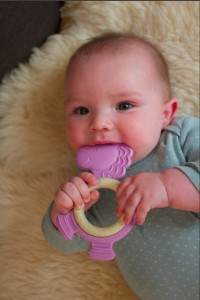 Baby with Purple Pony Teether