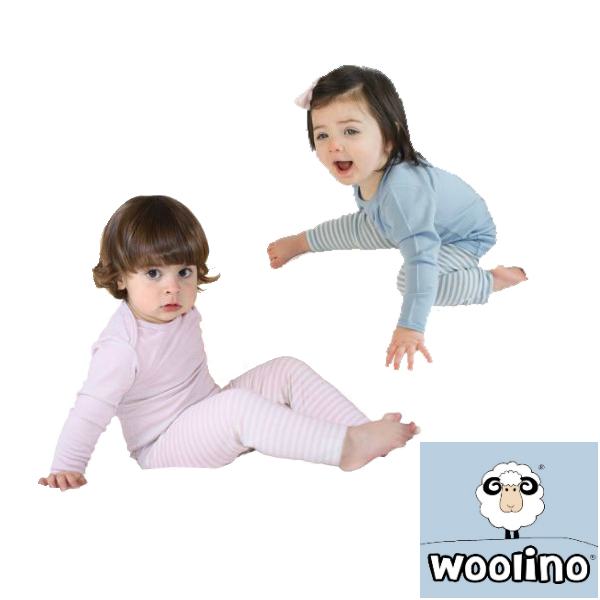 Woolino Merino Wool Pajama Set, 2-3 Years