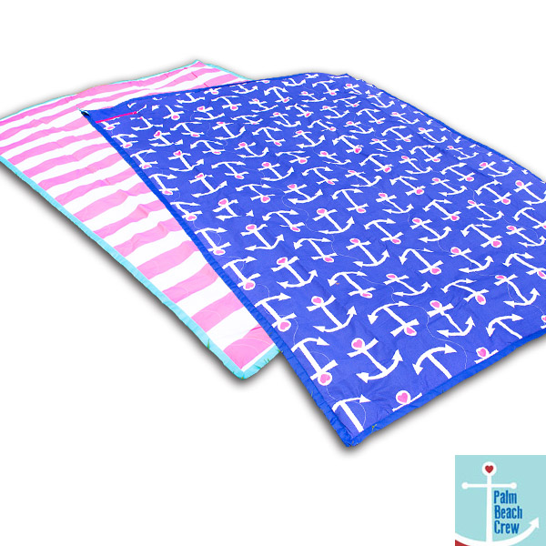 Palm Beach Crew Cotton Picnic Mat with Waterproof Bottom