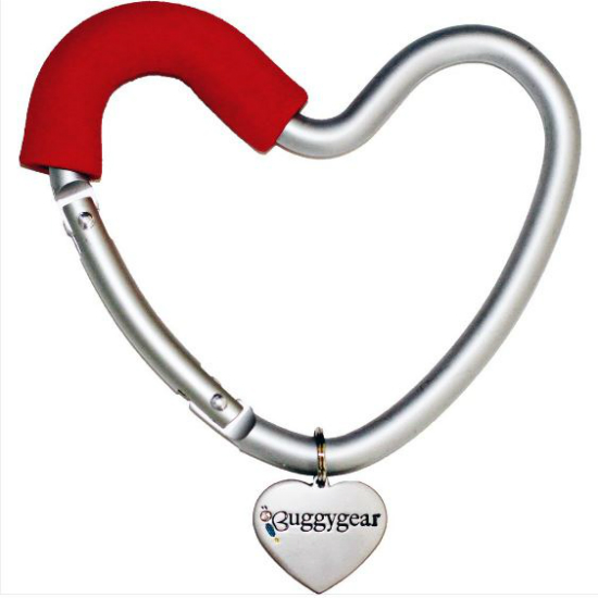 Buggygear Heart Stroller Hook, Red