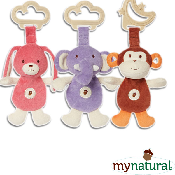 My Natural Organic Cotton Sensory Eco Teether with Silicone