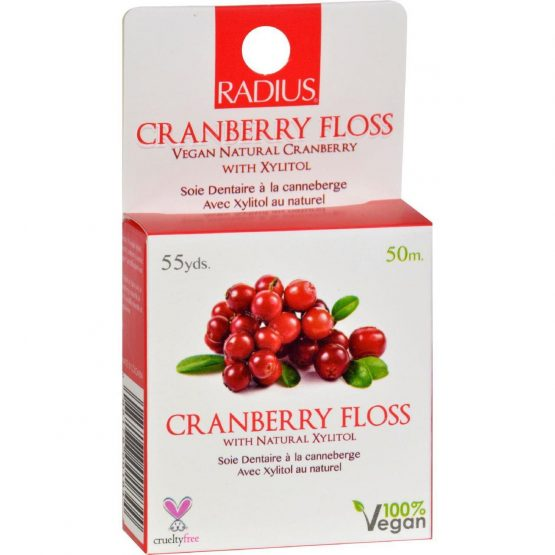 Radius Cranberry Vegan Floss with Natural Xylitol (50m)