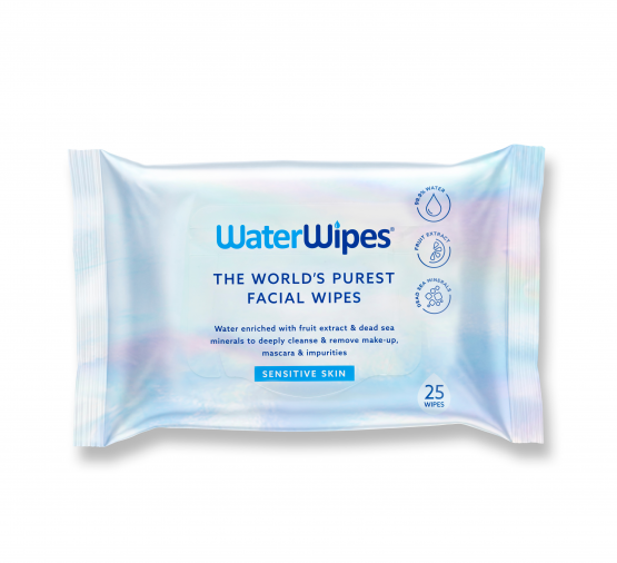 WaterWipes™ Facial Wipes (25 sheets x 2 packs bundle)