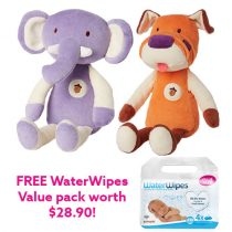 My Natural My First Cuddle Eco Plush + FREE WaterWipes™ Value pack